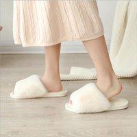 Slippers Ladies Cotton Women's Elegant Memory Foam Plush Soft Flip Flops Indoor Bedroom 2021 Women