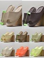 With Box 2021 Slides Slippers Sandals men women Desert Sand Earth Brown Bone White Resin Foam Runner Slide outdoor Slipper size 36-46