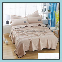Textiles & Gardentwin King Queen Size Solid Summer Quilt Bedspread Blanket Comforter Bed Er Quilting Simple Home Textile Bedclothes Blankets