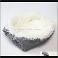 Kennels Pens Supplies Home & Garden Drop Delivery 2021 Foldable Washable Cat Sleeping Nest Plush Pet Dog Winter Warm Pets Bed Soft Mats House