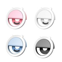 Flash Heads Mini Fill Light Mobile Phone LED Selfie Anchor Beauty Lens Live Broadcast Artifact Round Ring