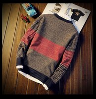 Men's Sweaters Men Autumn Spring Sweater Pullovers Jumper O-Neck Mixed Color Fashion Youth Teens Trend Long Sleeve S-2XL
