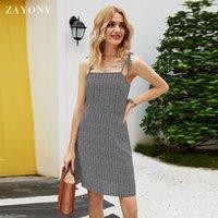 Women's Mini Dress Spaghetti Straps Sleeveless Boho Backless Beach Dress