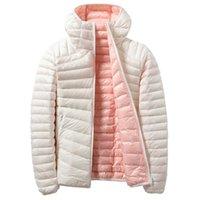 Autumn Winter Women Warm Coat Down Jacket Outwear Ultralight Duck Hooded Reversible Coats Female Parka Windbreaker Women's Jackets