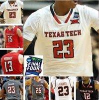 NCAA College TTU Texas Tech Basketball Jersey 30 Andrew Sorrells 32 Norense Odiase 35 Josh Mballa 2 Zhaire Smith 24 Tony Battie Costume Costume