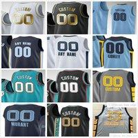 Impresionado impreso JA12 Morant Jaren 13 Jackson Jr. Jonas 17 Valanciunas Grayson 3 Allen 14 Gorgui Dieg 7 Justicia Winslow Basketball Jerseys
