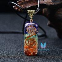 Bella 7 Chakra collana a sospensione a mano in cristallo di cristallo di cristallo pietre di meditazione