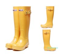rain boot Women fashion Knee-high tall rain boots England style waterproof welly boots Rubber rainboots water shoes rainshoes