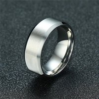 Cluster Rings ZORCVENS 2021 Fashion 8mm Silver Color Men Stainless Steel Wedding Couple Ring Never Fade