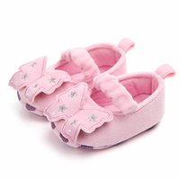 First Walkers Born Baby Girls Princess Bowknot Shoes Toddler Infant Prewalker With Hook Children Clothing Crib Sole Sneaker