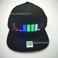 KAP-LED-Anzeige Licht Flash English Animation App Mobiltelefonwechsel Bluetooth Hat