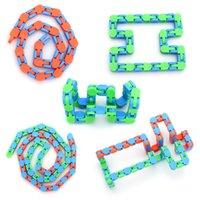 Descompressão Brinquedo Crianças Adultos Wacky Tracks Fidget Snake Cadeia de Dedo Brinquedos Bicicletas Correntes Fluido Fluido Bracelete Emaranhado Pulseira