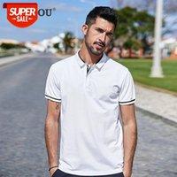 2021 extensão de algodão homens de manga curta camisa polo roupas simples verão poloshirt lapela slim camisas top tamanho zt-3392 # 574s