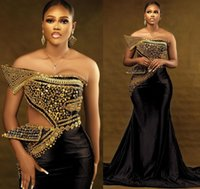 2021 Plus Size Arabic Aso Ebi Black Luxurious Mermaid Prom Dresses Beaded Stylish Sexy Evening Formal Party Second Reception Gowns Dress ZJ663