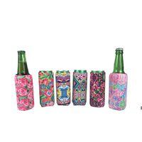 330 ml bolsas de botella impresas delgadas refrigerador del coque del refrigerador de neopreno de girasol de neopreno portátil de botella de vidrio refrigerador HWD6611