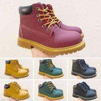 Kid garçons filles enfants bébé plaid motif chaussures adolescents bottes de matine pour vente en gros vendre EUR 26-35