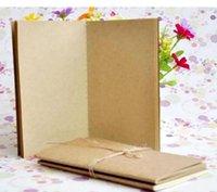 A5 Rindsleder Notebook Papier Leere Notizblock Buch Vintage Kraftpapier einfach zu tragen Kleine Notebook Graffiti Skizze Epacket Kostenlose 70 stücke