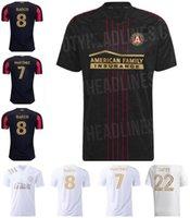 2021 2022 MLS Atlanta United FC Jersey Soccer Jersey Accueil 21 22 Moreno Martinez Robinson Damm Nagbe Barco Villalba Football Chemises