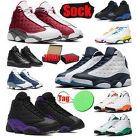 With Box &Sock &Tag 13s Men Basketball Shoes Obsidian Red Flint Court Purple Hyper Royal Gold Glitter Chicago Mens Trainers Sports Sneakers