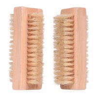 Çift taraflı Doğal Ahşap Temizleme Fırçası Kıl Banyo Fırçalar Taşınabilir Ev Masaj Tırnak Aracı Ücretsiz DHL GWF8192