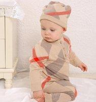 Младенческие детские розыгрыши зимняя одежда новорожденного мальчика девушка вязаный свитер комбинезон с капюшоном детский малыш теплый верхняя одежда и шляпа