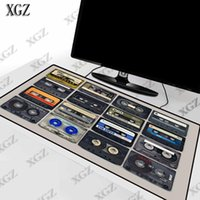 Mouse Pads & Wrist Rests XGZ Cassette Music Pad Gaming Large Gamer Big Computer Mat Office Desk Keyboard Mause For Game