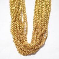 3meter Lot in bulk Golden 3MM WIDE stainless steel Braided chain Link Jewelry marking Jewelry findings Chain DIY bag keychain Accessories