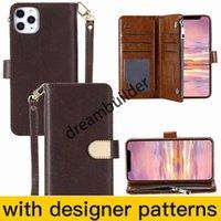 Estuches para teléfono de moda para iPhone 12 Pro Max Mini 11 11PRO XR XR XSMAX SHELL CUERCO Paquete de tarjeta multifunción Paquete de cartera de almacenamiento
