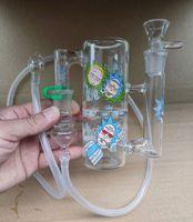 Portátil Bong Glass Cinzeiro Catcher Recycler Hand-Rede de Ashcatcher Hand-Hand-helf Whip 18.8mm adesivo adesivo adaptador tubo de silicone para fumar Loveyouglass