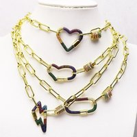 Pendant Necklaces 3 Strand Clasp Charms Necklace Design Jewelry Accessories For Women 8195