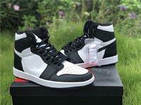 2021 Üst Katman Deri Basketbol Ayakkabısı 555088-010 OG Yüksek Jumpman Siyah Beyaz Panda Toe 1 1 S Erkek Spor Ayakkabı Boyutu 36-46