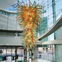 Подвесные светильники Торговый центр Большой кулон-светло-цветной современный ручной вручную Стеклянное люстра освещение светодиодный источник света креативные личности светильники