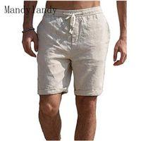 Мужские шорты Мандиландия Быстрый сухой мягкий и удобный хлопчатобумажный мужской мужской сплошной цвет вскользь наполовину брюки пляж для прибоя купания боксер