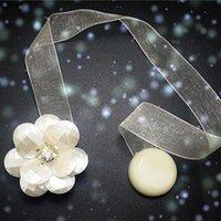 Outra decoração home 1 pc Forma de flor ímã de cortina fivela magnética titular de tieback janela clipe cinta acessórios 4