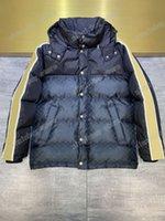 21SS Designer Designer Giacche down Parkas Cappuccio con cappuccio Lettera a doppia laterali Jacquard Abbigliamento Mens Cappotti Capispalla Abbigliamento Brown Black Bianco M-3XL