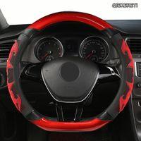 Lenkradabdeckungen Qiekereti Mikrofaser-Leder-Auto-Abdeckung für Toyotas Crown S180 S210