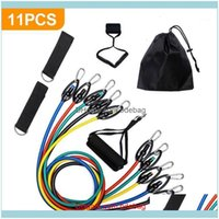 Equipments Supplies Sports & Outdoors11-Piece Set Yoga Rope Strength Training Resistance Belt Rubber Expander Elastic Bands Fitness With Bag