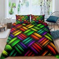 Bedding Sets Luxury 3D Color Geometry Art Print 2 3Pcs Kids Set Comfortable Duvet Cover Pillowcase Home Textile Queen And King Size