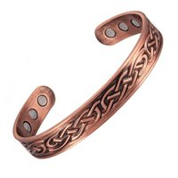 Bangle Classic Punk Retro Pattern Carved Rose Gold Magnetotherapy Metal Open Bracelet Leisure Health Care Jewelry
