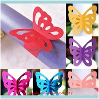Aessories Kitchen, Dining Bar Home & Garden50Pcs Butterfly Paper Napkin Rings Holders El Wedding Favors And Gifts Table Decoration Party Bou