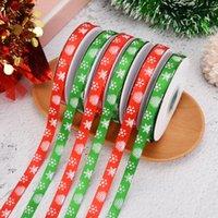 10 Yards 10mm Christmas Ribbon Printed Grosgrain Ribbons for Gift Wrapping Wedding Decoration Hair Bows DIY