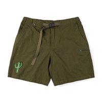 Travis Scott Cactus Jack corriendo pantalones cortos salvajes Casual moda oro bordado de alta calidad deportes pantalones cortos diseñadores