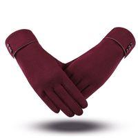 Cycling Gloves Women Touch Screen Winter Autumn Warm Wrist Mittens Driving Ski Windproof Glove Luvas Guantes Handschoenen