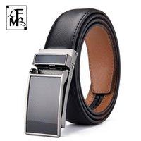 [Lfmb] Cintos de luxo para homens vaca de couro genuíno cinta masculina de fivela automática cinto est forma design original marca