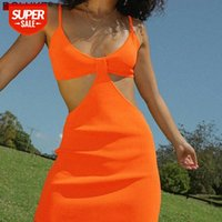 Sangle Spaghetti Sunless Sexy Mini robe Femme Découpé Robed Bullcel Robe Casual Summer Summer Night Outfits # M76C