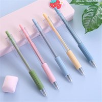 5pcs lot Press Refill Pen 0.5mm School Writing Gel Pens Signature Fountain Notebook Painting Graffiti Art Supplies