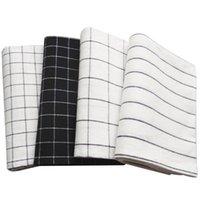 Таблица салфетки 4 шт. Хлопковые салфетки ткань сетки чайные полотенце абсорбирующие чистящие колодки кухонные полотенца чистка платок вечеринка ужин PL