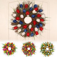 Artificial Wreath Door Threshold Flower DIY Wedding Home Living Room Party Pendant Wall Decoration Christmas Garland Decorative Flowers & Wr