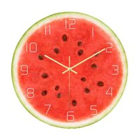 Acrylic Printing Watermelon Fruit Wall Clock Non- Ticking Sil...