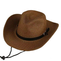 Kovboy Rüzgar erkek Batı Kovboy Şapka Katlanabilir Kemer Toka Kadın Hasır Plaj Güneş Büyük Kenar Hediye